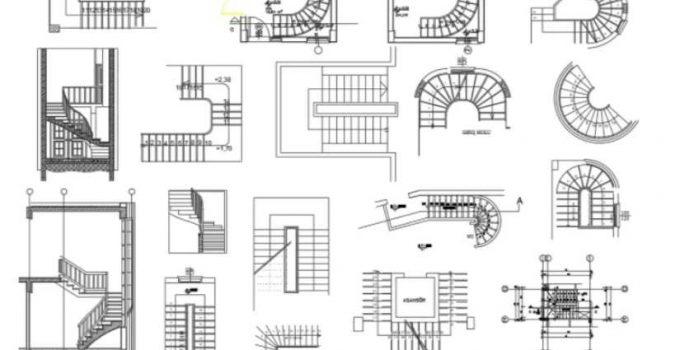 Bloques AutoCAD Escaleras GRATIS