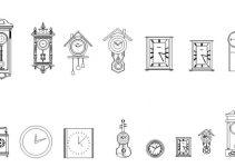 Bloques AutoCAD Relojes GRATIS