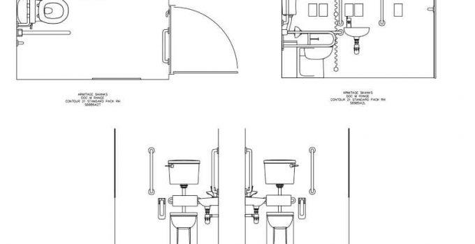 Bloques AutoCAD Baños para Discapacitados GRATIS