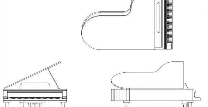 Bloques AutoCAD Piano GRATIS